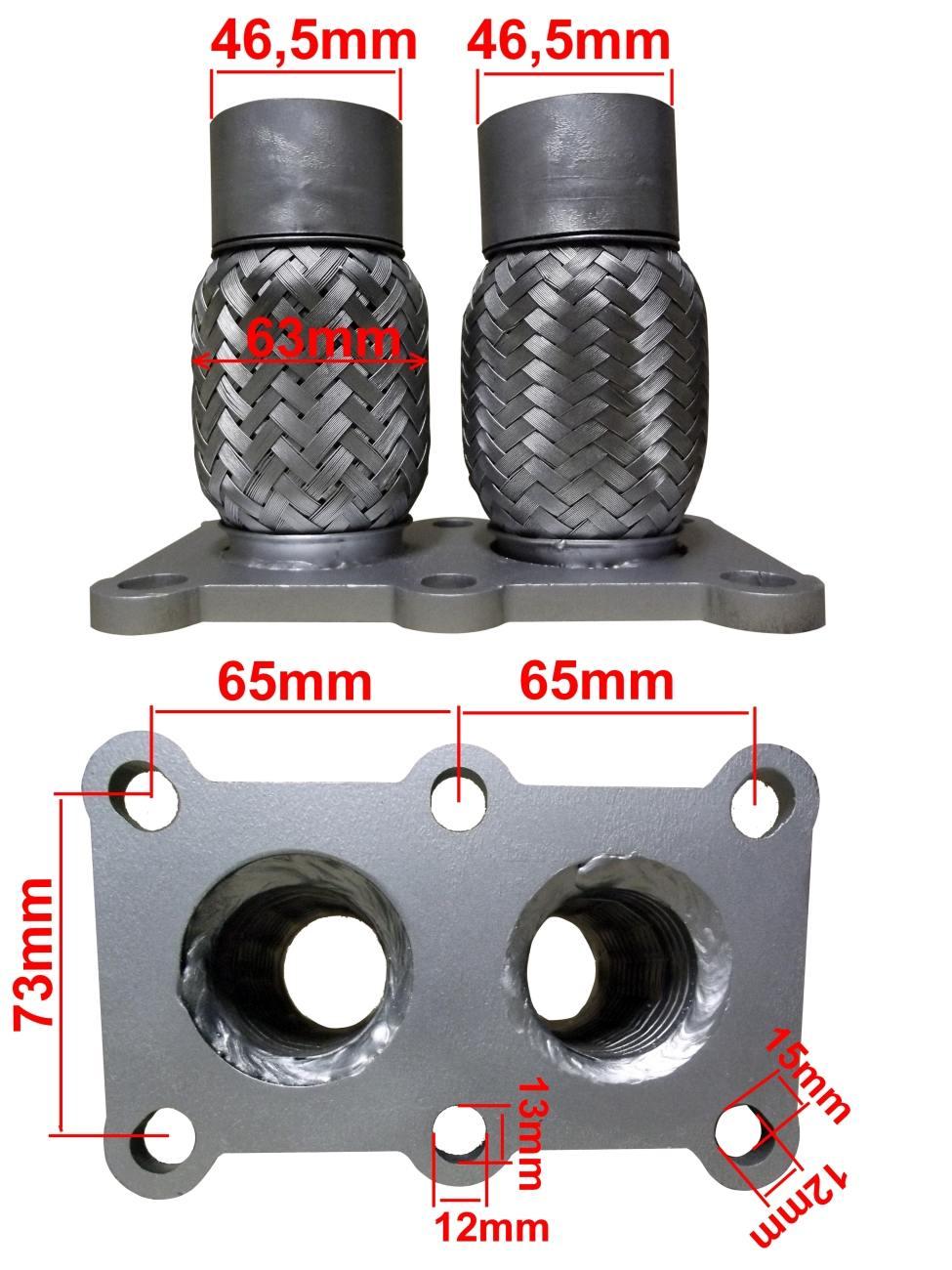 Pružný díl vlnovec škoda octavia 1 4i 1 6i 1 8i