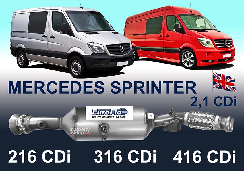 Catalyseur Mercedes Sprinter  Cdi
